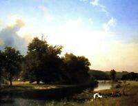 Albert Bierstadt Westphalia Fine Art Print on Canvas Giclee Repro Wall Art Small