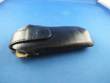 Leder Tasche Hülle Nokia C5 Handytasche Nostalgie Case Klassik Schwarz Black