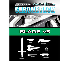 Brickarms Chrome Pack Blade V3 - Can be used with Lego BNIP