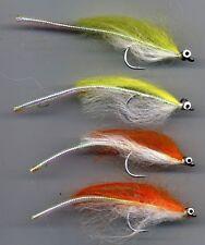 Salt Water Flies: Sand Eels. x 4  size 1/0 Sakuma Stainless Hooks (code 600)