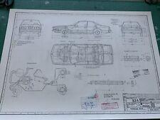 BMW E24 630 CS 1976 Blueprint / Konstruktionszeichnung