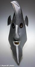 Moon Man Silver Foam Mascot Head Light Weight Metallic Fabric Character Acces.