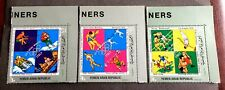 3 top mint stamps Yemen Arab Republic YAR Olympic Champions of Italy
