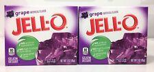 Jello Grape Gelatin Dessert 3 oz ( 2 Boxes )