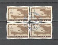 T302 - HAITI 1958 - QUARTINA ONU AEREA - VEDI FOTO