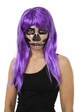 Transparent Mask Skeleton Print Halloween Adult Fancy Dress Accessory