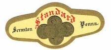 1930s PENNSYLVANIA Scranton Standard cream colored Beer Neck Label Tavern Trove