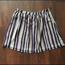 Richard Chai for Target Sz 7 Cobalt Blue Gray Black Mini Skirt Silver Zipper