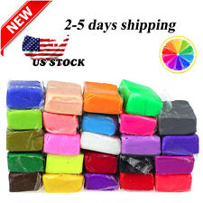 24pcs Malleable Fimo Polymer Modelling Soft Clay Blocks Plasticine DIY