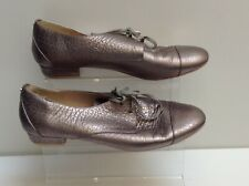 TED BAKER Womens Silver Leather Lace-up Shoes Size 6