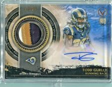 TODD GURLEY 2015 TOPPS VALOR No.SHA-TG RPA ROOKIE 3-COLOR PATCH & AUTO RC #13/99