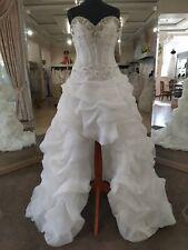 Mori Lee 6752 wedding bridal gown White size 4