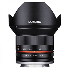 Samyang 12mm F2.0 NCS CS Ultra Wide Angle Lens: Micro Four Thirds: Black