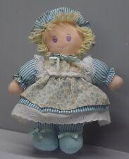 "Vintage Doll Holly Hobbie Mine Rag Cloth Dressed Figure about 11"" Tall"
