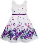 Robe Fille Élégant Princesse Épanouissement Fleur Dans Vent 4-12 ans