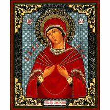Virgin of Sorrows Seven Arrows, Orthodox Christian Icon