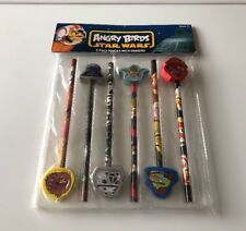 Angry Birds Star Wars 6 Pencils with Erasers New in package back to school