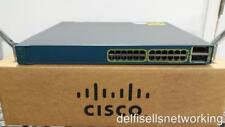 Cisco WS-C3560E-24TD-E Ethernet Switch 24 10/100/1000 ports & 2 X2 10G uplinks