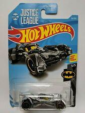 Hot Wheels DC  Batman Bat-mobile *CUSTOM PAINTED* Silver Justice League