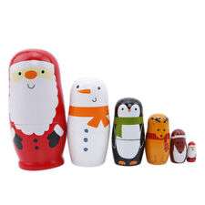 Six-layered Santa Claus Russian Matryoshka Puzzle Wooden Toy Gift Feature Gifts