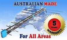 TV ANTENNA HIGH GAIN-NO FOLDED ELEMENTS+ FREE SIGNAL FINDER !  MADE IN MELBOURNE