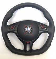 BMW NEW NAPPA FLAT BOTTOM M3 M5 E46 E39 E53 X5 SPORT CUSTOM STEERING WHEEL