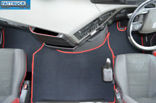 VELOUR   FLOOR MATS SET-BLACK/RED TRIM  FIT VOLVO FH4 2013+ [TWIN AIR SEATS]