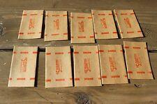 Vintage Brandt Manufacturing Quarter Coin Roll Wrappers tube Set of 10