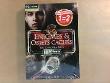 JEU PC CD ROM / ENIGMES ET OBJETS CACHES / THE DRACULA FILES / NEUF SOUS CELLO