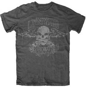 LYNYRD SKYNYRD BIKER PATCH SKULL WINGS COUNTRY MUSIC ROCK BAND T SHIRT S-2XL