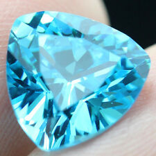6.58ct Unheated Light Blue SAPPHIRE 10MM Trillion Cut AAAA+ COLOR LOOSE GEMSTONE