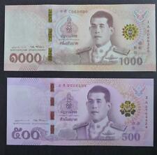Thailand 500 & 1000 Baht 2018 King Rama X P-New Unc Banknote