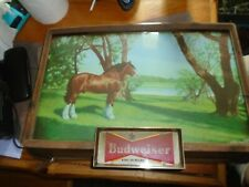 Budweiser Draught Beer 1950s Lighted Sign White Clydesdale Rare
