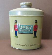Vintage California Perfume Co  Baby Powder Full Tin  c. 1922-1931