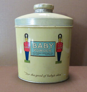 Vintage California Perfume Co  Baby Powder Full Tin  c. 1922-1931