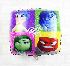 45cm INSIDE OUT Disney Pixar Character Movie Square Foil Balloon Party Supply