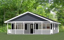 28x32 House -- PDF Floor Plan -- 895 sq ft -- Model 1A
