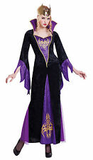 Ladies Evil Queen Costume Adults Sorceress Witch Halloween Fancy Dress Womens