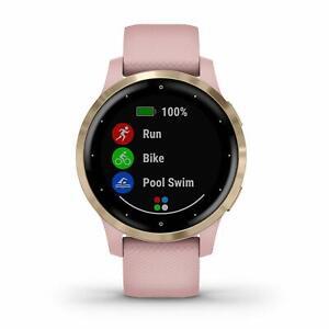 Garmin vivoactive 4S Dust Rose and Light Gold GPS Smartwatch 010-02172-31