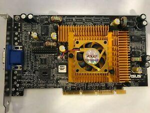 RARE VINTAGE ASUS V8200 PURE NVIDIA GEFORCE3 TI200 64M AGP VIDEO CARD - VGA ONLY