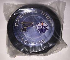Connor McDavid Edmonton Oilers NHL Debut Dated Goal Puck 10/8/15 Wayne Gretzky