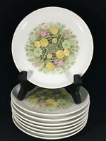 """NORITAKE BIMINI Younger Image 6923 Bread Butter Plates 6"""" Floral Set of 8"""