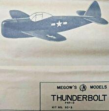 P-47 THUNDERBOLT Balsa Wood Glider Free Flight Model Airplane Kit Megow SC-3