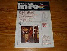 TELDEC-INFO 8 '83 - PROMO-KATAGOLG POP & KLASSIK / CHRIS REA, THE HORNETTES