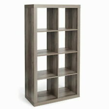 Better Homes and Gardens 8 Cube Storage Organizer Shelving Unit - Rustic Gray