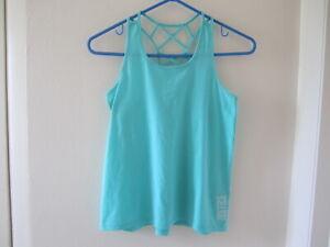 Justice Active Girls Green Sleeveless Tank Shirt 12