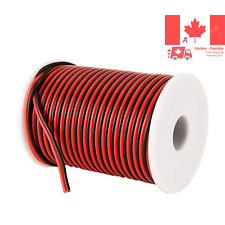 100FT 18 AWG Gauge Electrical Wire Hookup Red Black Copper Stranded Auto 2 Wi...