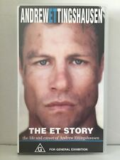 ANDREW ETTINGHAUSEN ~THE ET STORY~ CRONULLA SHARKS RUGBY LEAGUE ~ RARE VHS VIDEO