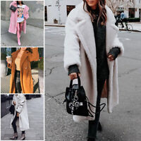 Women Winter Warm Teddy Bear Fleece Coat Fluffy Jacket Cardigan Overcoat Outwear