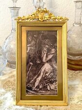 Antique French Bronze Gilded Large  Picture Armoirie Decor